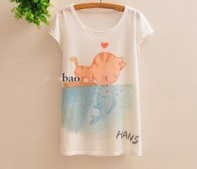 Cat Kiss Fish Tee